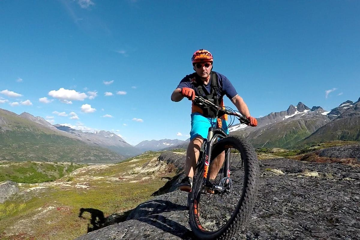 Cycling in Valdez, Alaska