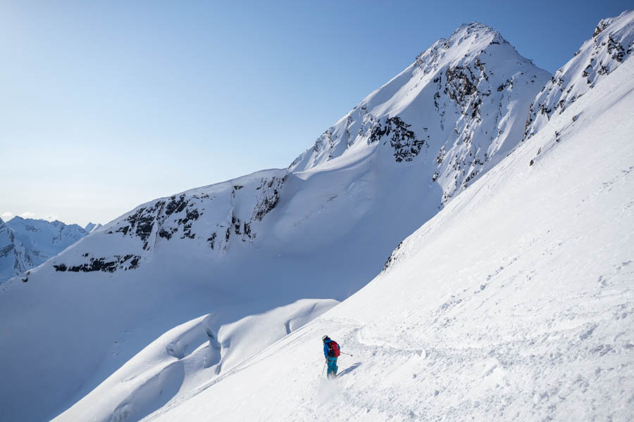 Backcountry skiing tours, Valdez, Alaska